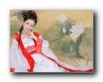 古典美女自拍壁纸
