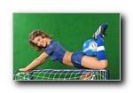 足球宝贝人体彩绘版三