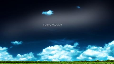 Hello, World 桌酷精选一图