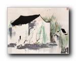 吴冠中江南水乡绘画艺术 壁纸