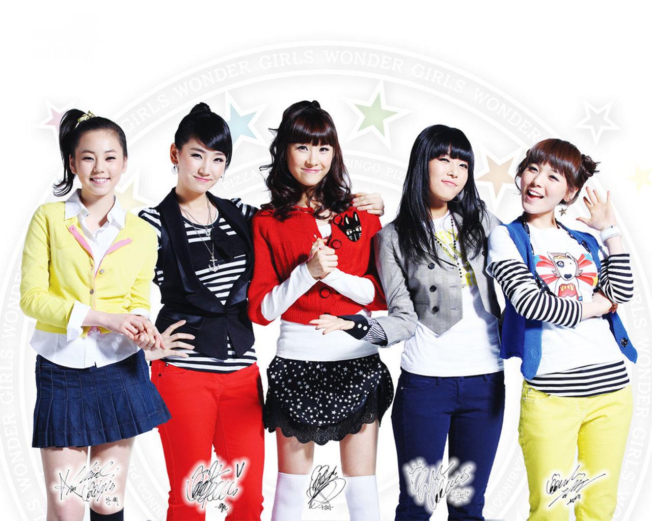 Wonder Girls(韩国美女组合)壁纸(壁纸1)