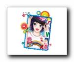 时尚青春小女孩白色主题壁纸