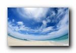 夏日海滩(蓝天白云海滩)(共13581次)