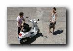摩托车 情侣广告壁纸