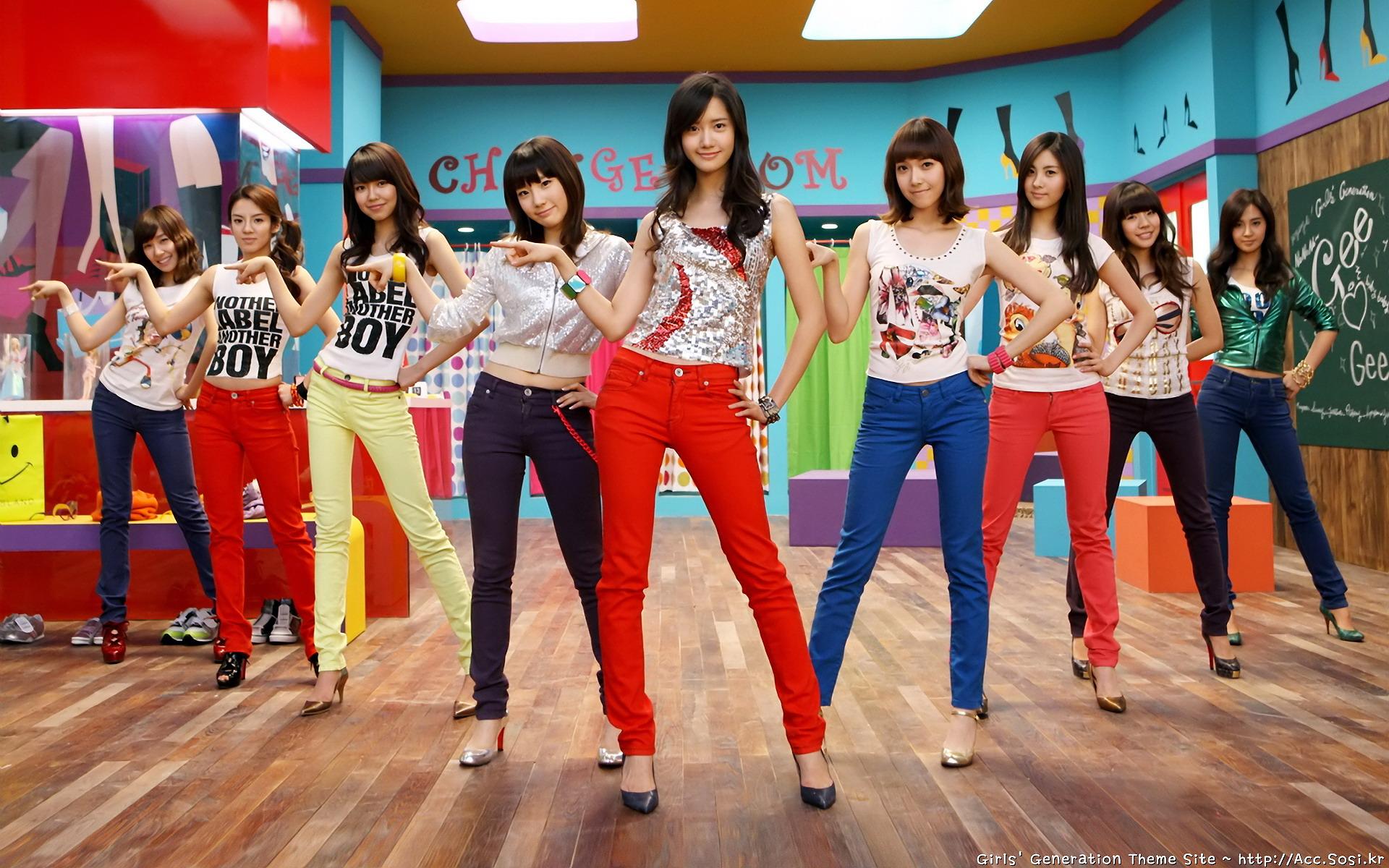 少女时代 韩国美女组合 宽屏壁纸(壁纸1)