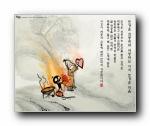 韩国水墨风格卡通壁纸