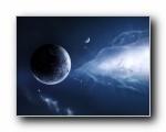 外太空精美行星设计高清壁纸 ((共5258次)
