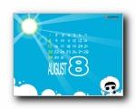 2010年8月(八月)月历壁纸 (CYWORLD版)