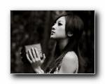 黑白艺术照:果子MM摄影之�明山竹子湖