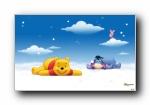 小熊维尼 Winnie the Pooh 可爱卡通宽屏壁纸