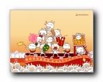 兔斯基2011年兔年新年可爱卡通壁纸