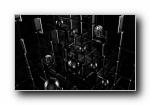 黑色艺术设计立体3D宽屏壁纸 2560x1600