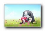 schnuffel bunny可爱卡通宽屏壁纸