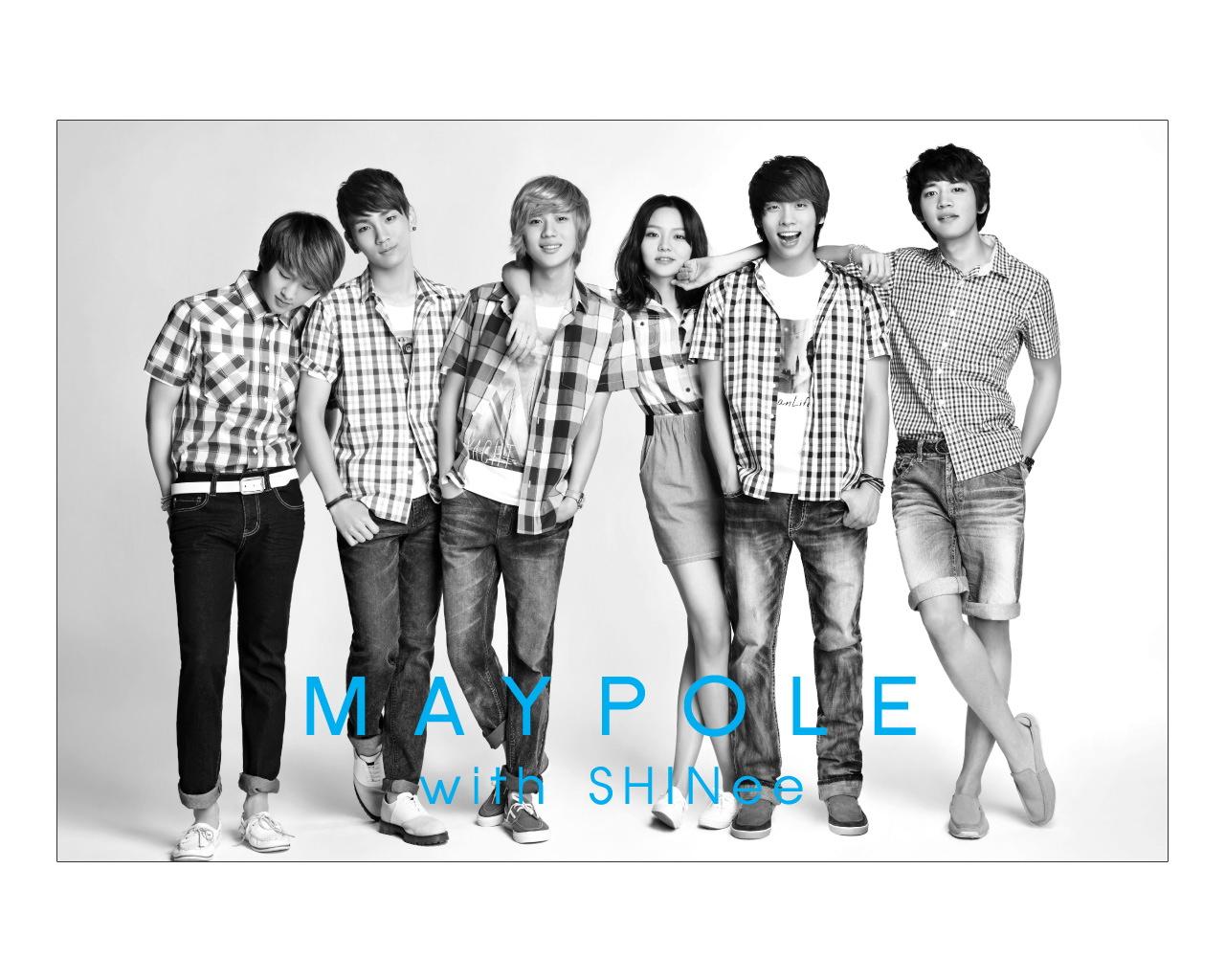 SHINee 韩国青春帅哥组合 代言 MAYPOLE(壁纸1)