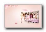 少女时代 LG 3D TV 广告宽屏壁纸