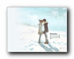 2012年12月(十二月)月历壁纸 腾讯篇 (宽屏+普屏)
