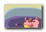 我们爱讲冷笑话 冷兔可爱卡通宽屏壁纸