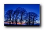 黄昏日落日出夕阳风光风景宽屏壁纸