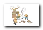 六一儿童节可爱卡通插画手绘宽屏壁纸