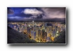 香港经典风光风景夜景宽屏壁纸