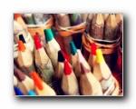 七彩铅笔摄影壁纸(多分辨率)