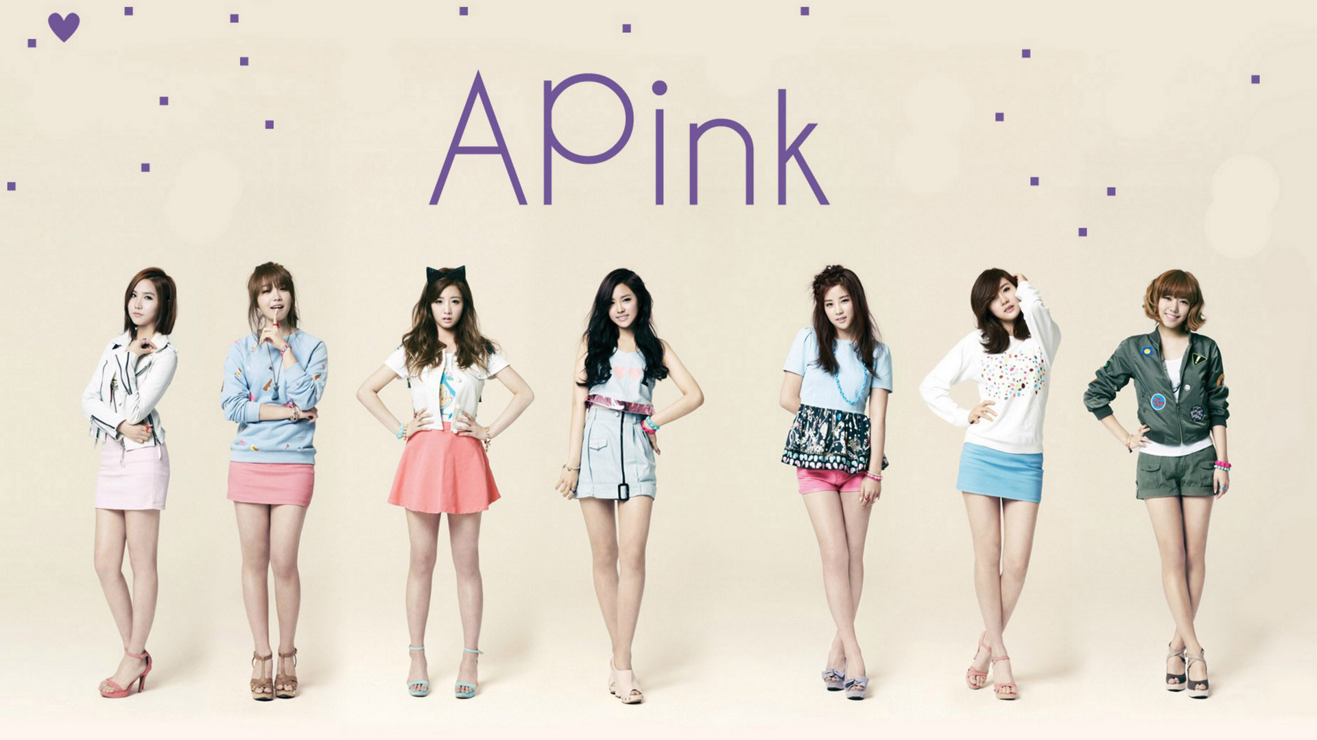 A Pink(朴初珑、尹普美、郑恩地、孙娜恩、金南珠、吴夏荣)(壁纸1)
