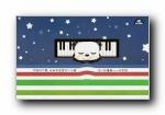 音乐熊猫滚滚 可爱卡通宽屏壁纸