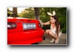 马自达MX-5 改装车美女模特艾迪宽屏壁纸