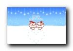 2017可爱卡通快乐圣诞宽屏壁纸(秋田君、芒果仔、士巴蛙、碳巴蛙