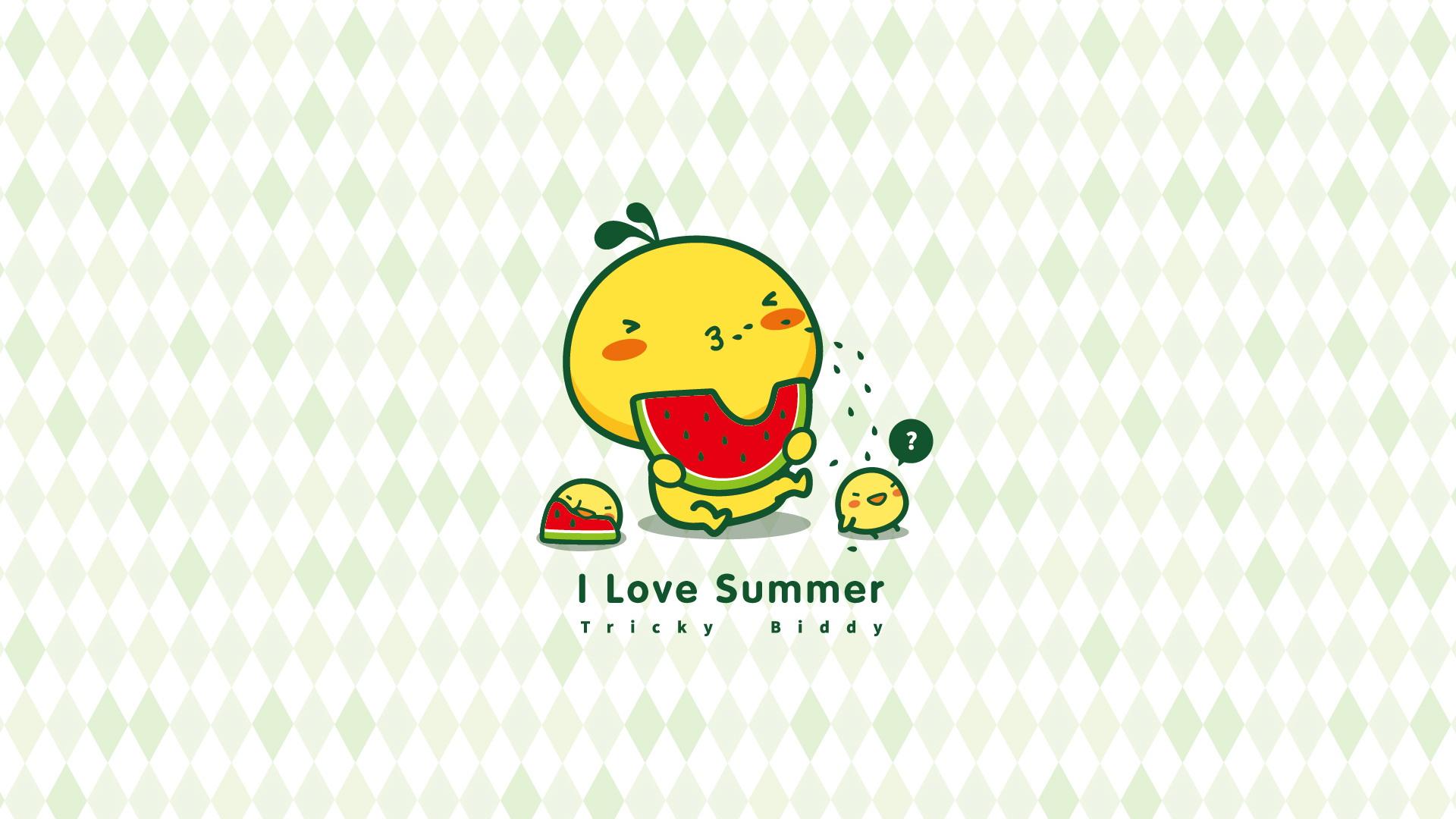 油爆叽丁清凉一夏 可爱卡通宽屏壁纸(壁纸3)